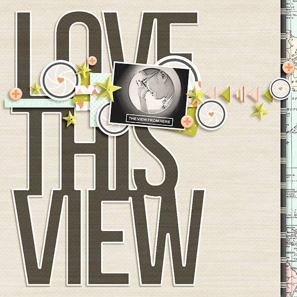 Love This View digital scrapbooking page by icajovita using Viewpoint (Kit) by Sahlin Studio by Sahlin Studio - AddOn to Memory Pocket Monthly MPM Subscription
