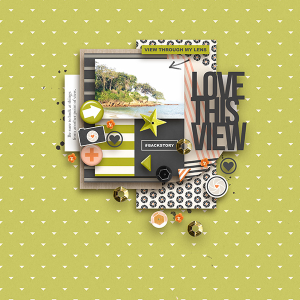 Love This View digital scrapbooking page by margelz using Viewpoint (Kit) by Sahlin Studio by Sahlin Studio - AddOn to Memory Pocket Monthly MPM Subscription