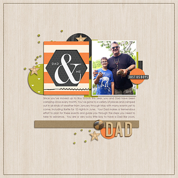 Dad digital scrapbooking page by nancybeck using Viewpoint (Kit) by Sahlin Studio by Sahlin Studio - AddOn to Memory Pocket Monthly MPM Subscription