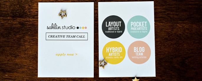 Sahlin Studio Creative / Design Team Call
