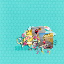 layout created by arumrose featuring Vintage Labels: Sweet Sips by Sahlin Studio