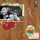 layout created by CathyPascual featuring Vintage Labels: Sweet Sips by Sahlin Studio