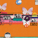 digital scrapbook layout created by amandaresende featuring Retro Color Press Papers by Sahlin Studio