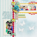 layout by Damayanti featuring butterflies: drawn and spritz by sahlin studio