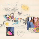 layout by kristasahlin featuring butterflies: drawn and spritz by sahlin studio