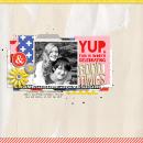 Celebrate digital scrapbooking page by Celeste using Celebrate Kit by sahlin studio