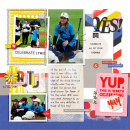 Yes digital pocket scrapbooking page by amberr using Celebrate Kit by sahlin studio