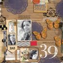 layout by amandaresende featuring Layerable Ephemera Paper Stacks by Sahlin Studio