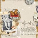 layout by mommy2boyz featuring Layerable Ephemera Paper Stacks by Sahlin Studio