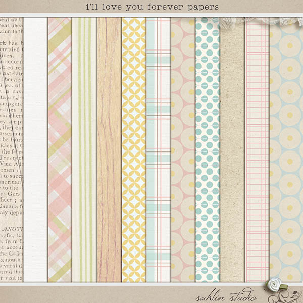 I'll Love You Forever (Papers) by Sahlin Studio