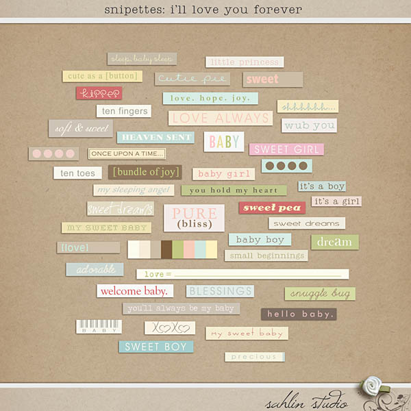 I'll Love You Forever Snipettes by Sahlin Studio