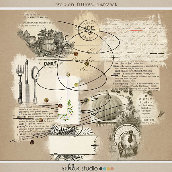 Rub-On Filler: Harvest by Sahlin Studio