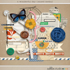 A Wonderful Day (Mixed Media) by Sahlin Studio