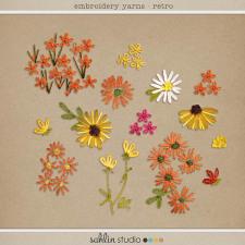 Emrboidery Yarns: Retro by Sahlin Studio