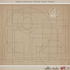 Paper Piercing/Stitch Holes: Basic by Sahlin Studio