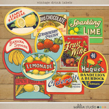 Vintage Labels: Sweet Sips by Sahlin Studio