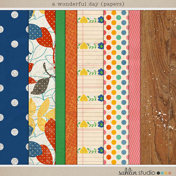A Wonderful Day (Papers) by Sahlin Studio