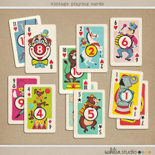 Vintage Playing Cards by Sahlin Studio
