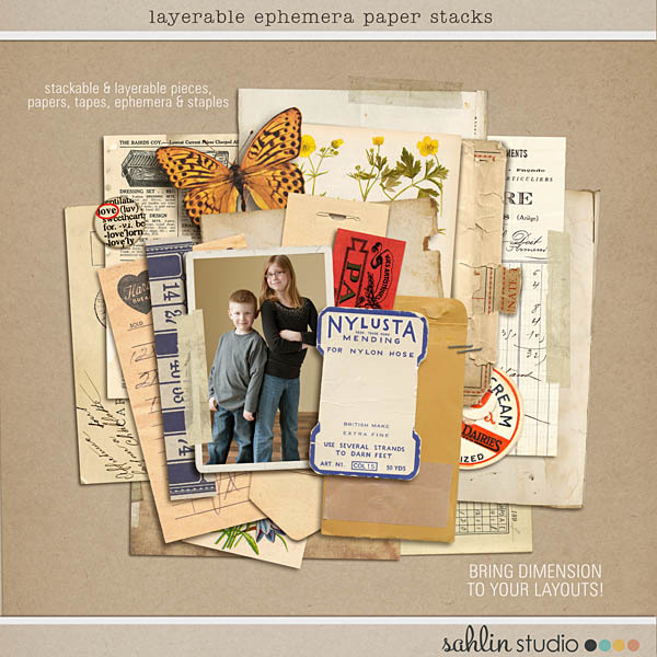 Layerable Ephemera Paper Stacks by Sahlin Studio