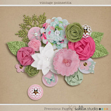 Vintage Poinsettia (Elements) by Sahlin Studio and Precocious Paper