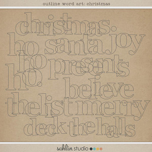 Outline Word Art: Christmas by Sahlin Studio