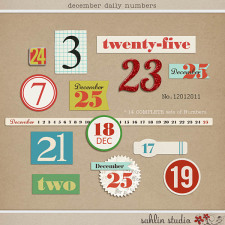 December Daily Numbers by Sahlin Studio
