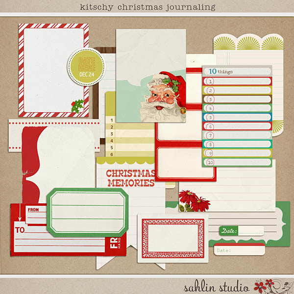 Kitschy Christmas Journaling by Sahlin Studio