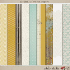 Autumn Afternoon: Papers by Sahlin Studio