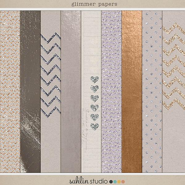glimmer papers sahlin studio digital scrapbooking designs