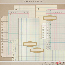 Lined Journal Cards by Sahlin Studio