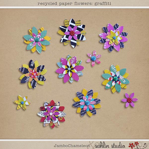 Recycled paper flowers graffiti sahlin studio digital recycled paper flowers graffiti mightylinksfo Choice Image