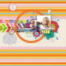 digital scrapbook layout created by gracielou featuring Retro Color Press Papers by Sahlin Studio