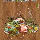 layout created by heathergw featuring Vintage Labels: Sweet Sips by Sahlin Studio