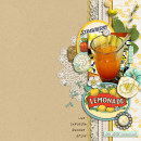 layout created by kimbytx featuring Vintage Labels: Sweet Sips by Sahlin Studio