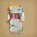 layout featuring Lined Journal Cards by Sahlin Studio