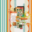 digital scrapbook layout created by mom2da3ks featuring Retro Color Press Papers by Sahlin Studio