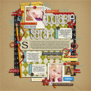 layout featuring Monogram Journalers by Sahlin Studio