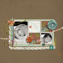 layout featuring Monogrammed Note Cards by Sahlin Studio