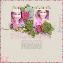 layout by dana featuring Vintage Poinsettia by Sahlin Studio and Precocious Paper