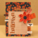 card featuring Snipettes: The Perfect Pumpkin and Outline Word Art: Halloween by Sahlin Studio