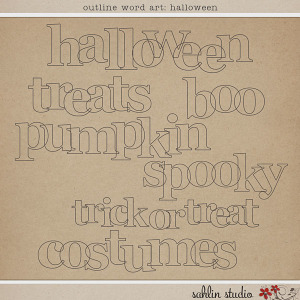 Outline Word Art: Halloween by Sahlin Studio