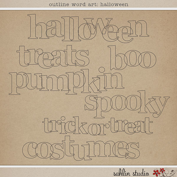 Outline Word Art: Halloween by Sahlin Studio