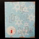 card by Cristina featuring Painted: Fresh Snow Papers, Writing in the Snow and Icicles Alpha by Sahlin Studio