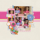 digital scrapbook layout created by kristasahlin featuring Retro Color Press Papers and Fabric Snip Flowers by Sahlin Studio