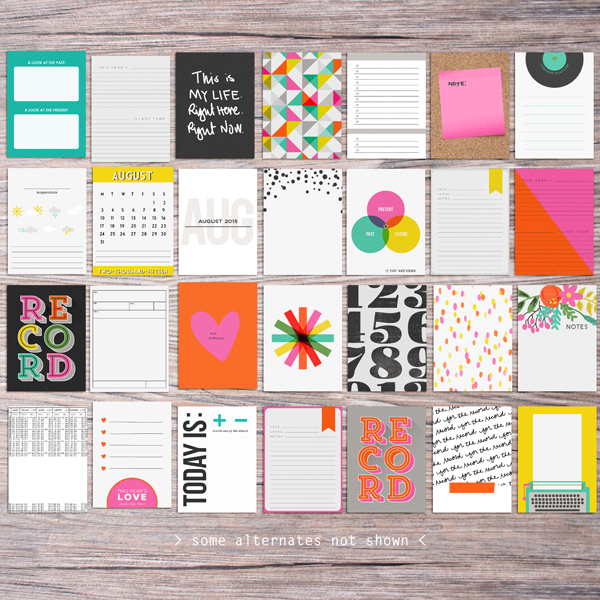 Memory Pocket Monthly: Almanac by The LilyPad Designers Allison Pennington, Amber Labau, Designs by Lili, Sahlin Studio, Paislee Press and Valorie Wibbens - Perfect for Project Life!!
