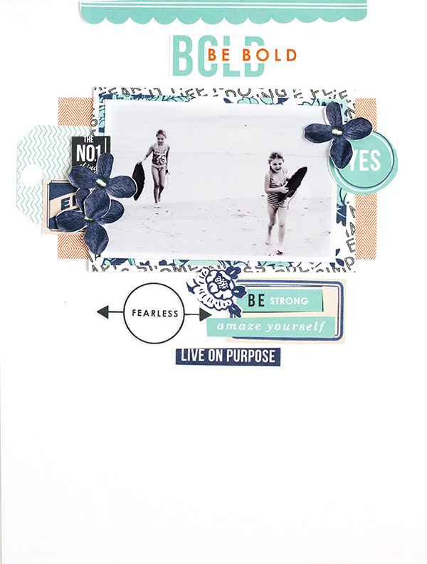 "Paper Scrapbook Inspiration using the digital ""Like a Boss"" (Kit, Journal Cards) by Sahlin Studio"