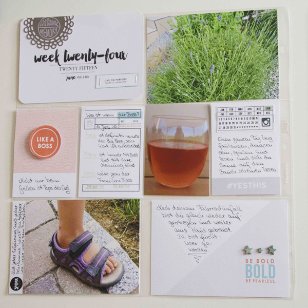 "Paper Project Life layout using the digital ""Like a Boss"" (Kit, Journal Cards) by Sahlin Studio"
