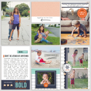 """Project Life layout using the digital """"Like a Boss"""" (Kit, Journal Cards) by Sahlin Studio"""