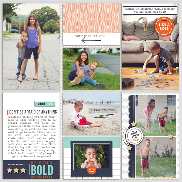 "Project Life layout using the digital ""Like a Boss"" (Kit, Journal Cards) by Sahlin Studio"