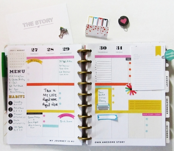 Creative Team Inspiration - using Memory Pocket Monthly Almanac